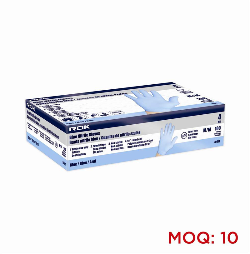 Nitrile Gloves 4 Mil Blue 100 Pc Med