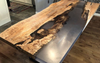 Big Leaf Maple Satin Resin Cast Dining Table