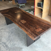 Claro Walnut Patchwork Dining Table