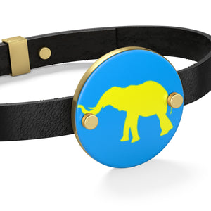 Elephant Leather Bracelet