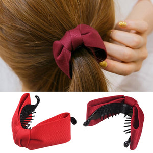 Sweet Fabric Bow Hair Claw