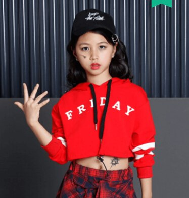 Long Sleeve Children Crop Tops