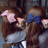 Big Solid Cloth Bows Hair Clips