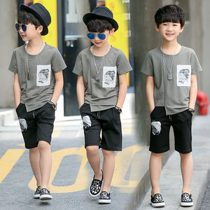 Boys Clothing Set Children Sport Set