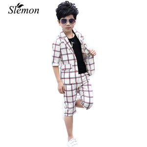 3 Pcs/Set Teens Boys Formal British Style Suit