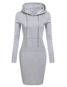 Women Long Sleeve Mini Dress
