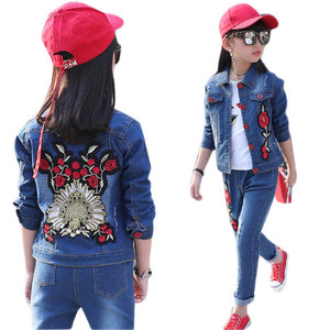 Children denim clothing set