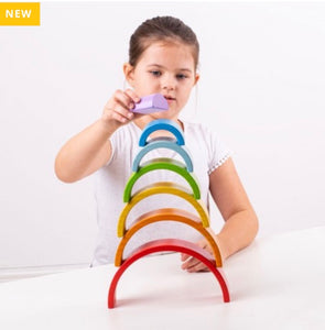 Wooden Stacking Rainbow- Small