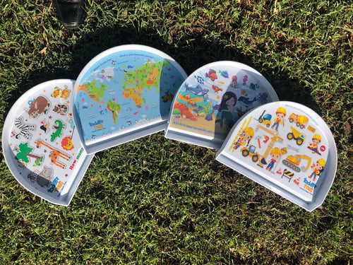 Non Slip Interactive Toddler Tray- 5 Designs Available
