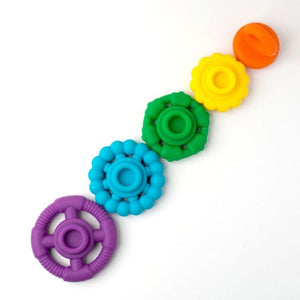 Rainbow Stackers & Teething Toy- 6 Colours Available