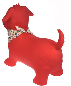 Bouncy Rider- Red Dog with Scarf