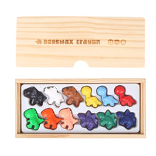 Load image into Gallery viewer, Beeswax Crayon- Cute Dinosaurs- 12 Colours