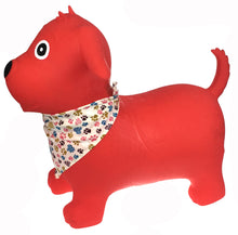 Load image into Gallery viewer, Bouncy Rider- Red Dog with Scarf