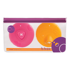 B.Box Silicone Lids Travel Pack- Strawberry Shake