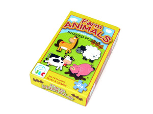 Wooden farm Animal Puzzle 6ps