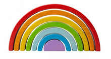 Load image into Gallery viewer, Wooden Stacking Rainbow- Small