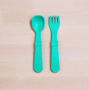 Re- Play Fork and Spoon Set- Multi colour options