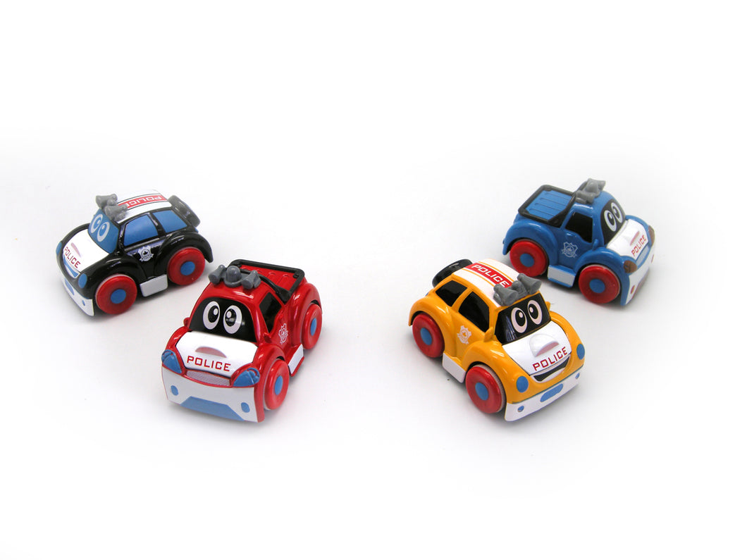 Police Cars- 4 Colours Available