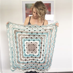 Calm Blue Ripple Blanket - Made to Order
