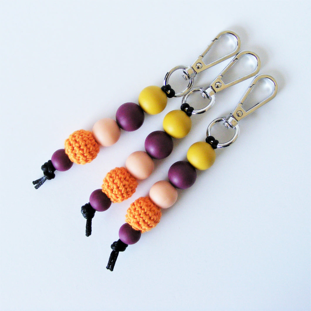 Pikki Nikki Key Ring Beaded Silicone Beads