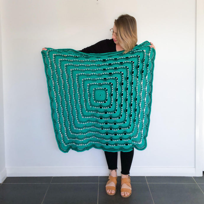 Green Ombre Pram Blanket - Made to Order