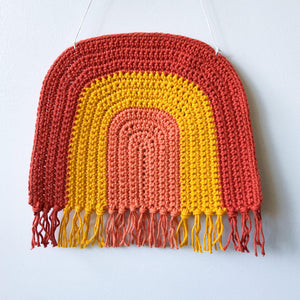 Heirloom crochet rainbow wall hangings by Pikki Nikki