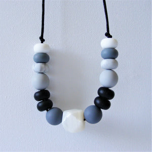 Kid Proof Necklace - Black and White 1