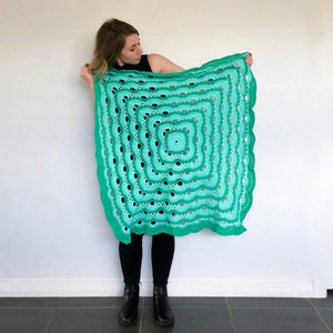 Mint Green Ombre Blanket - Made to Order