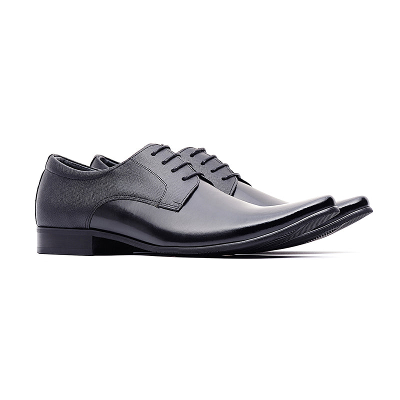 09797-Formal Leather Shoes (Black)