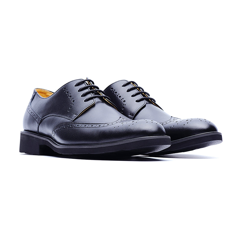 09584-Formal Leather Shoes (Black)