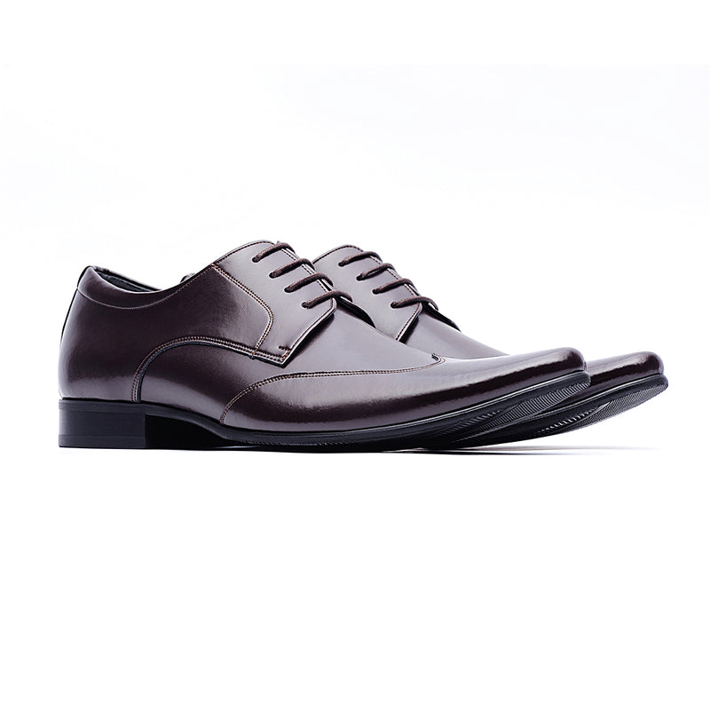 09705-Men formal leather shoes (Brown)