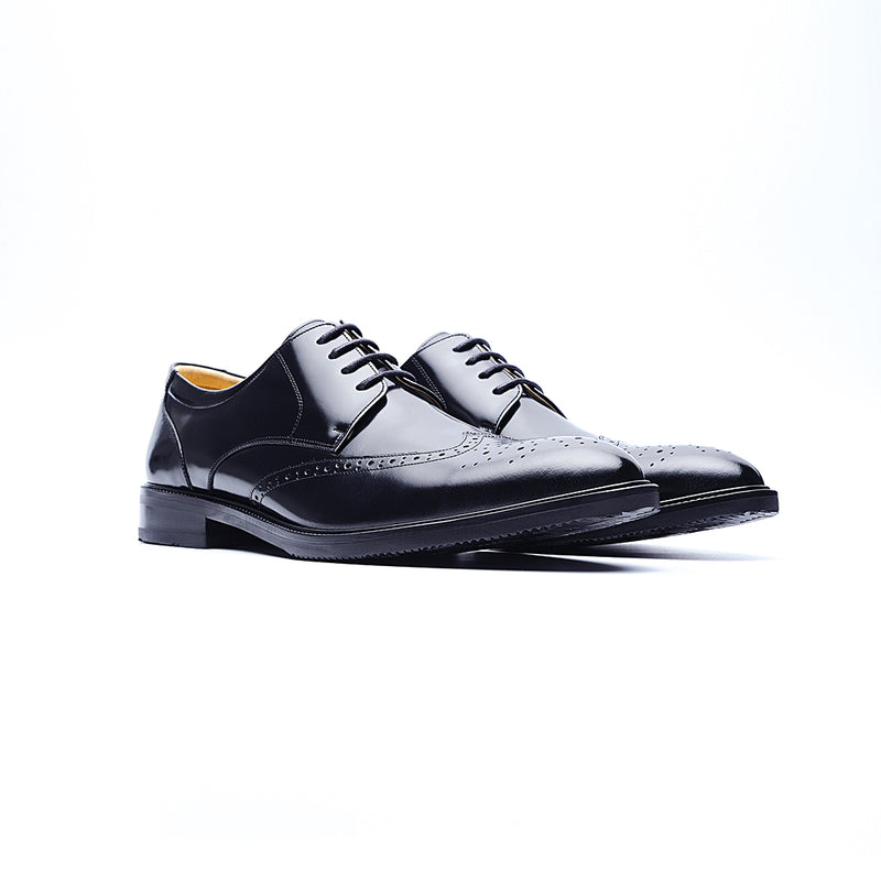 09232-MIT Casual Derby shoes (Black)