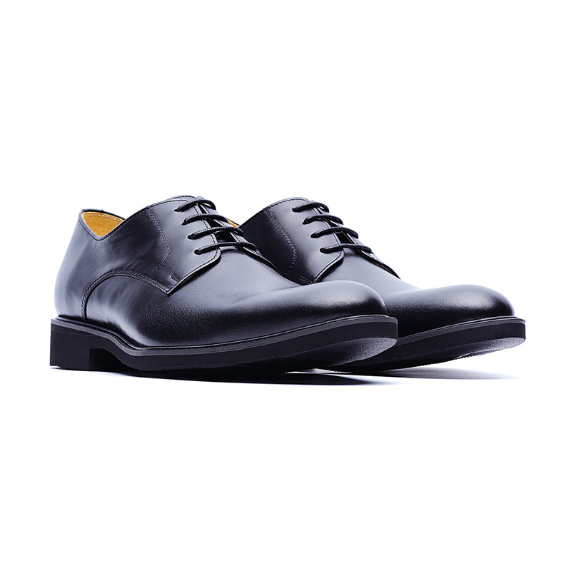 09583-Formal Lightweight Gentleman Pointy Leather Loafers Shoes (Black)