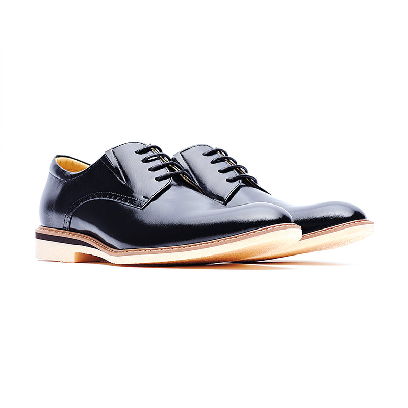 09586-Formal Casual Leather Shoes (Black)