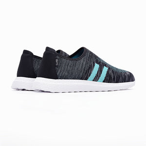 09710-Lightweight Sports Knitted Trainer Shoes (Green)