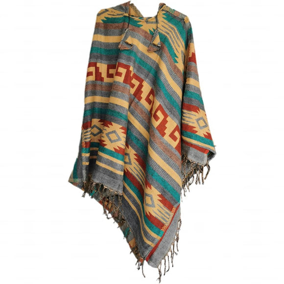 Tribal Poncho - Zapotec