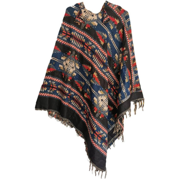 Tribal Poncho - Zapotec & Hooded