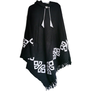 Tribal Poncho - Triangular & Hooded