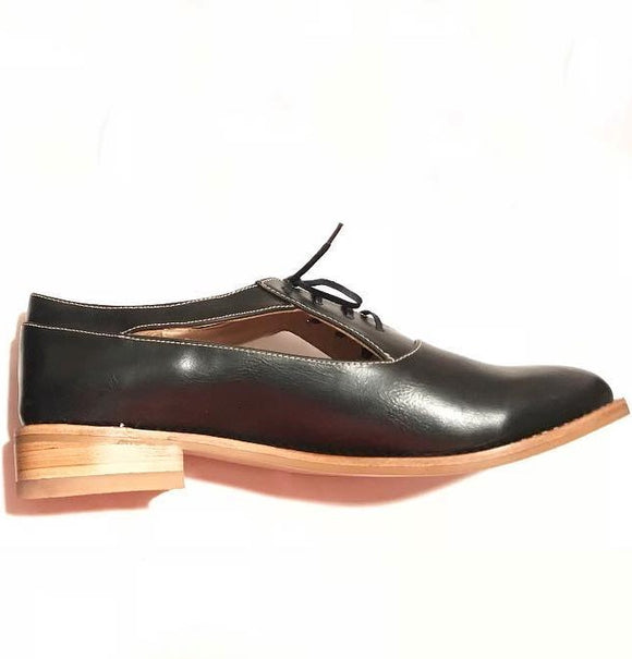 Tallera Black Bostonian Shoes - KUNST.MX