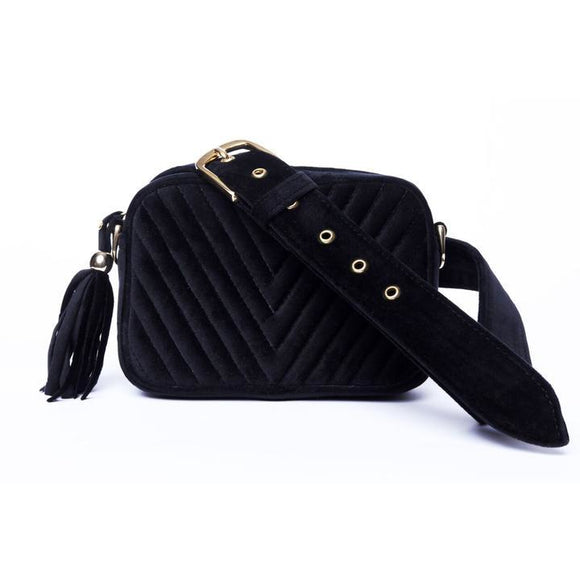 Mathilda Mini Dark Velvelt Shade Crossbody/Belt Bag - KUNST.MX