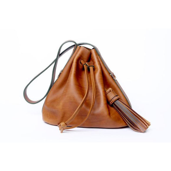 Camel Medium Pouch Bag - KUNST