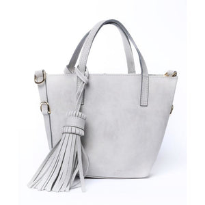 Mini Simple Gray Tote Bag - KUNST.MX