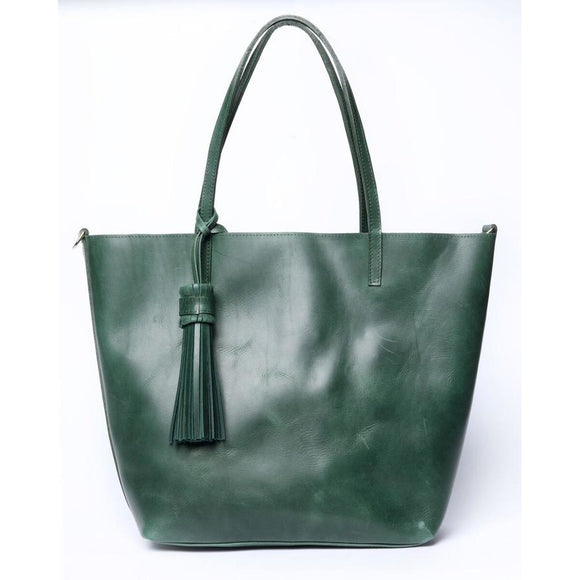Simple Tote Emerald Large Bag - KUNST.MX