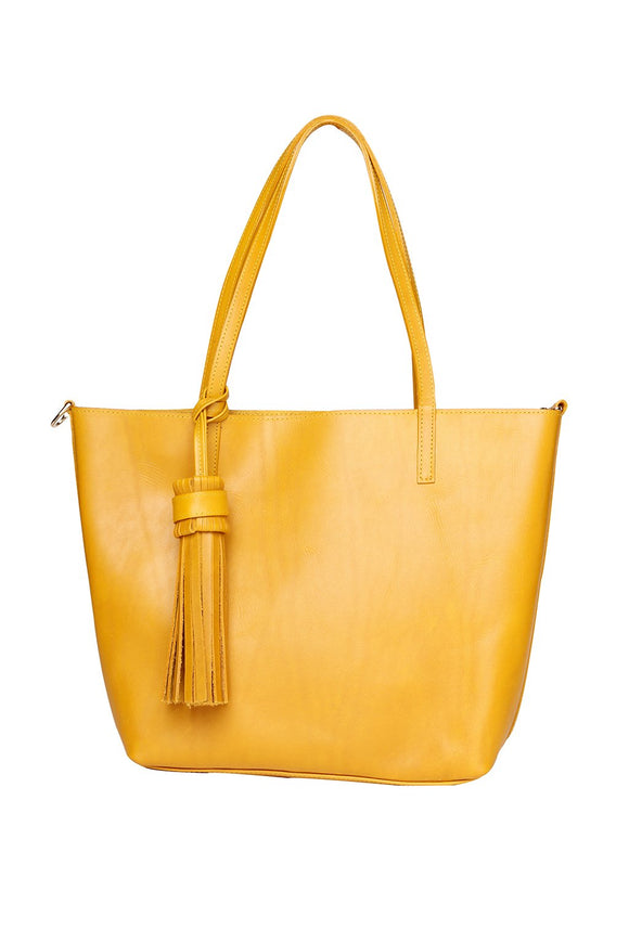 Mustard Medium Tote Bag - KUNST.MX