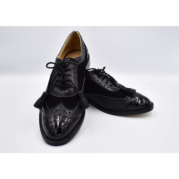 Bold Black Bostonian Shoes - KUNST.MX