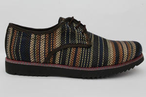 Teji Brown Zarape Shoes - KUNST.MX