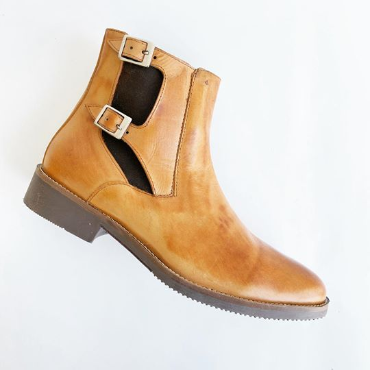 GB Monkstrap Chelsea Booties - Ocher - KUNST.MX