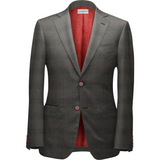 Gray & Red Plaid Suit - KUNST.MX