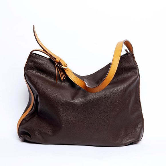 Amelia Brown Satchel Bag - KUNST & EATS