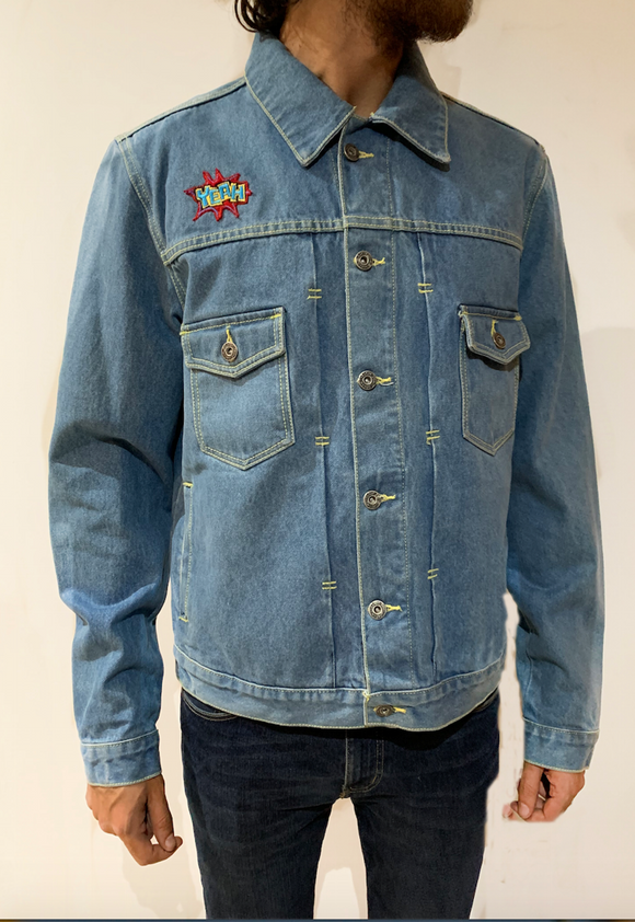 R & B Denim Jacket - KUNST.MX